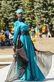 从远东的时装表演 免版税图库摄影