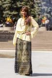 从远东的时装表演 免版税库存图片