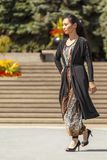 从远东的时装表演 免版税库存照片