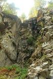 从远方看峭壁 免版税图库摄影