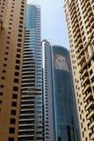 从迪拜,阿拉伯联合酋长国的摩天大楼 库存照片