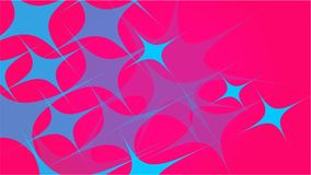 从透明蓝色抽象容量时兴的不可思议的一级风天线的纹理雕刻了星,线,在的菱形红色韵律 向量例证