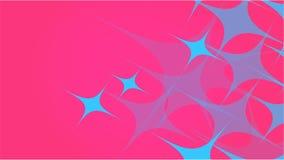 从透明蓝色抽象容量时兴的不可思议的一级风天线的纹理雕刻了星,线,在的菱形红色韵律 皇族释放例证