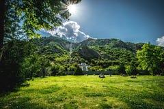 从酵母酒蛋糕Vanga的地方,Rupite,保加利亚的看法 库存图片