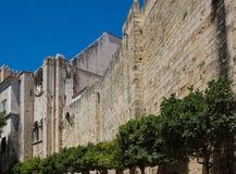 从里斯本大教堂的墙壁  库存照片