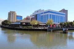 8 从里约华盛顿中心在盖瑟斯堡,马里兰美国的后面美丽的景色 库存照片