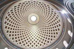 从里面的教会圆顶 库存图片