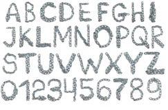 从金属链子的字母表 免版税库存照片