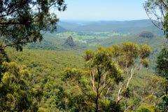 从钟声鸟监视的看法在Lamington国家公园,澳大利亚 免版税库存图片