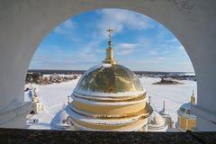 从钟楼的美丽的景色 免版税库存图片