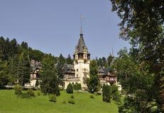 从锡纳亚的皇家Peles城堡在罗马尼亚 库存照片