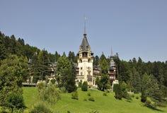 从锡纳亚的皇家Peles城堡在罗马尼亚 免版税库存图片