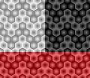 从镶边元素的摘要六角形无缝的样式 第三部分 皇族释放例证
