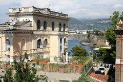 从阳台的索伦托视图 库存照片