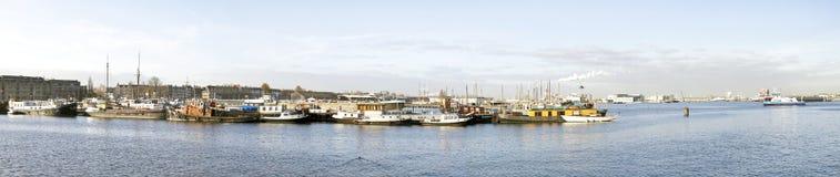 从阿姆斯特丹荷兰的全景 免版税库存照片
