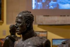 从阿尔塔雷della帕特里亚,罗马,意大利博物馆的古铜色胸象  库存照片