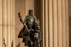 从阿尔塔雷della帕特里亚,罗马,意大利博物馆的古铜色雕象  库存照片