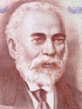 从阿尔巴尼亚金钱的伊斯梅尔・捷马利画象 免版税库存图片