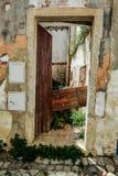 从阿尔布费拉葡萄牙的街道视图 图库摄影