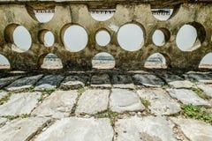 从阿尔布费拉葡萄牙的街道视图 免版税图库摄影