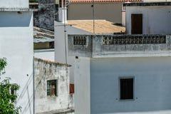 从阿尔布费拉葡萄牙的街道视图 库存照片