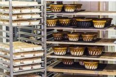 从阿尔萨斯的典型的老瓦器bakings 库存照片
