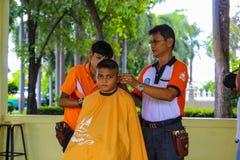 从阿尤特拉利夫雷斯多科技学院的自由理发师路线 图库摄影