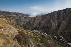 从阿拉韦尔迪地区的山全景在亚美尼亚 免版税库存照片