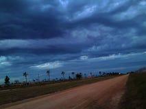 从阿根廷的一场冷的风暴 免版税库存图片