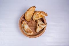从阿根廷的Empanadas罐的 库存图片
