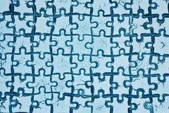 从难题的背景白色蓝色 库存照片