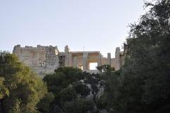 从雅典的上城考古学遗产在希腊 免版税图库摄影