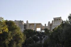 从雅典的上城考古学遗产在希腊 库存照片