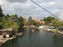 从雷山的马克・吐温的迪斯尼乐园视图 库存照片