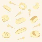 从面包的向量背景 免版税库存图片