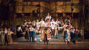 从音乐Vij的戏剧性戏剧的场面 免版税库存照片