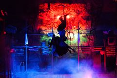 从音乐Vij的戏剧性戏剧的场面 库存照片