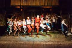 从音乐Vij的戏剧性戏剧的场面 免版税库存图片