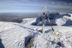 从顶层的冬天视图 库存图片