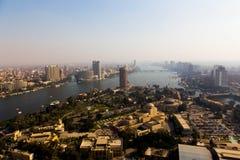从顶的埃及的开罗 免版税库存照片
