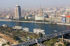 从顶的埃及的开罗 免版税图库摄影