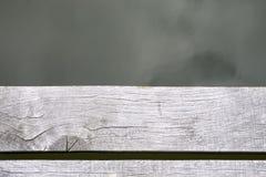 从顶视图的板条和水表面 免版税库存图片
