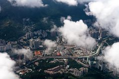 从顶视图的香港 免版税图库摄影