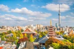 从顶视图的Sensoji寺庙 免版税库存图片