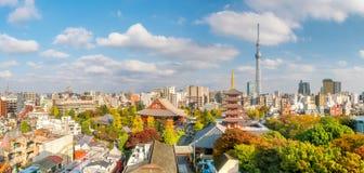 从顶视图的Sensoji寺庙 库存照片