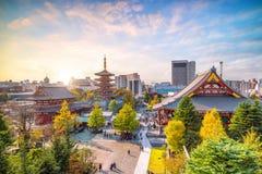从顶视图的Sensoji寺庙 免版税图库摄影