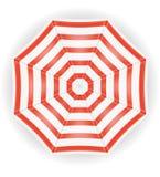 从顶面储蓄传染媒介例证的沙滩伞视图 皇族释放例证