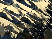 从颜色混乱被弄脏的污点的抽象荧光的难看的东西背景掠过不同的大小冲程  向量例证