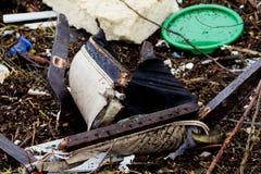 从飓风桑迪的残骸 免版税库存照片