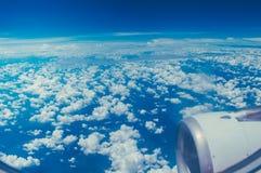 从飞机的蓝天 库存照片